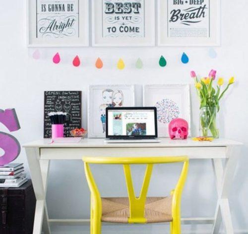 biuro domowe kolorowe